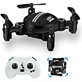 LUXON Drone RC Mini Drones for Kids Headless Quadcopter Drone with Foldable Remote Control Helicopter 2.4GHz 6-Axis Kids Drone One Key Return Small airplane for Indoor / Outdoor Flying (Black)