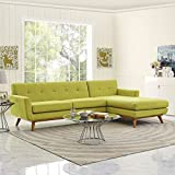Modway Engage Right-Facing Sectional Sofa, Wheat