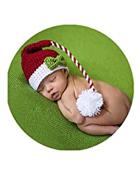 Fashion Cute Newborn Boy Girl Baby Costume Outfits Photography Props Christmas Hat