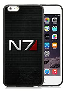 Unique iPhone 6S Plus TPU Skin Case ,Fashionable And Durable Designed Phone Case With mass effect n7 font background shadow Black iPhone 6S Plus Screen Cover Case