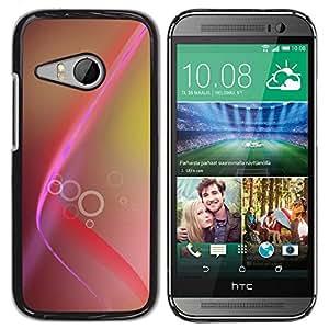 Be Good Phone Accessory // Dura Cáscara cubierta Protectora Caso Carcasa Funda de Protección para HTC ONE MINI 2 / M8 MINI // Pink Brown Lines Rings Yellow