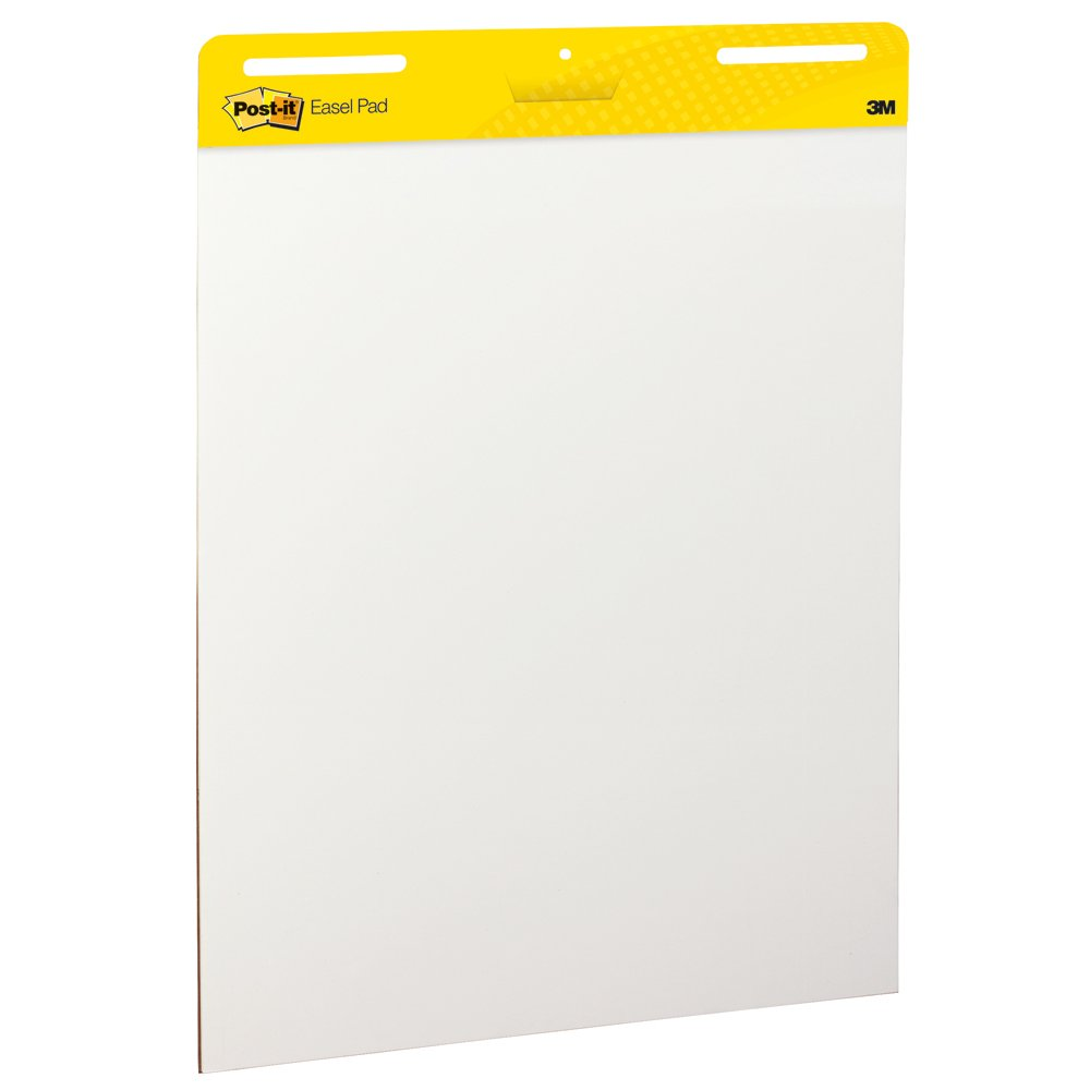 Post It Super Sticky Easel Pad, 25 X 30 Inches, 30 Sheets/Pad, 1 Pad (559 Ss), Large White Premium Self Stick Flip Chart Paper, Super Sticking Power by Post It