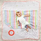 Muslin Blankets and Frame Set - Baby Girl - Milestone Blankets and Frame