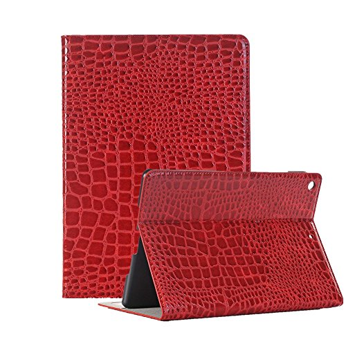 Price comparison product image FuriGer iPad 2 / 3 / 4 Case Slim Fit Folio Stand Case Smart Protective Cover Auto Sleep / Wake Feature for Apple iPad 2,  iPad 3 & iPad 4th Generation-Red