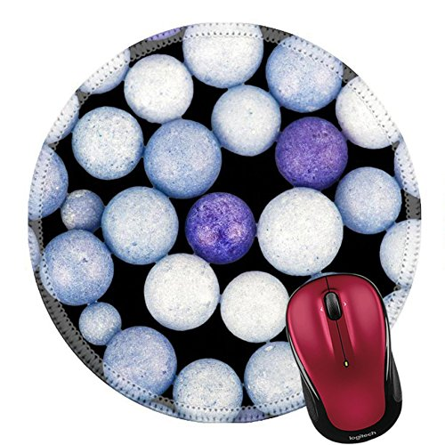 Orn Crystal (Liili Round Mouse Pad Natural Rubber Mousepad IMAGE ID 31912016 Color beads background)