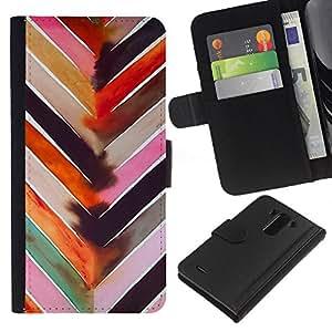 For LG G3 Case , Art Watercolor Pattern Pink - la tarjeta de Crédito Slots PU Funda de cuero Monedero caso cubierta de piel