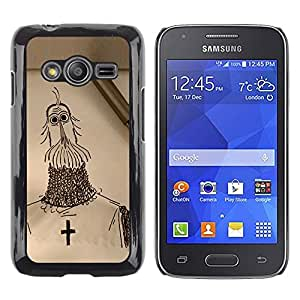 Paccase / SLIM PC / Aliminium Casa Carcasa Funda Case Cover - Knight Cross Christianity Crusade Art Drawing Pencil - Samsung Galaxy Ace 4 G313 SM-G313F