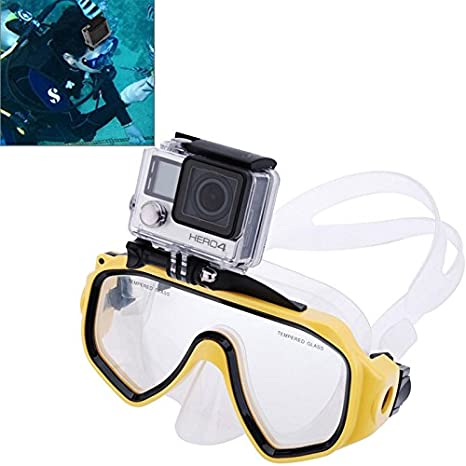 Xiaoyi and Other Action Cameras Blue Color : Blue Water Sports Diving Equipment Diving Mask Swimming Glasses with Mount for GoPro New Hero //HERO6//5//5 Session //4 Session //4//3+ //3//2 //1 Durable