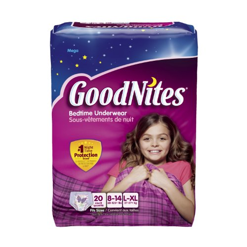 GoodNites Girls Underwear Large/Extra Large, Girl, 20 Count (Pack of 3) Packaging May Vary (Diapers Underpants Girls Goodnites)