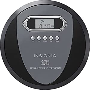 Insignia NS-P4112 Portable CD Player with Skip Protection for CD, CD-R, CD-RW - Includes Headphones