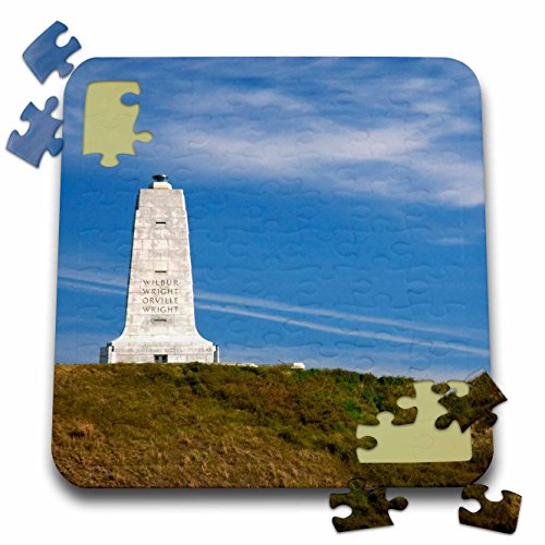 Wright Flight Memorial First Brothers (Danita Delimont - North Carolina - Wright Brothers National Monument North Carolina - US34 DFR0012 - David R. Frazier - 10x10 Inch Puzzle (pzl_93242_2))