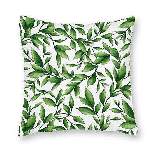 DKISEE Decorative Catalina Ultra Violet Leaves Square Throw Pillow Cover Canvas Pillow Case Sofa Couch Chair Cushion Cover for Home - Catalina Loveseat