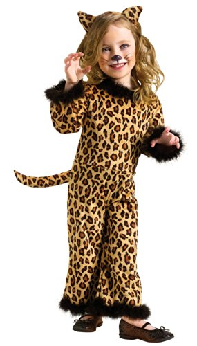 Fun World Girls' Toddler Pretty Leopard, Brown Small 24 Months-2T