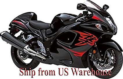 Amazon.com: Gloss Black w/ Red Fairing Injection for 2008-2014 ...