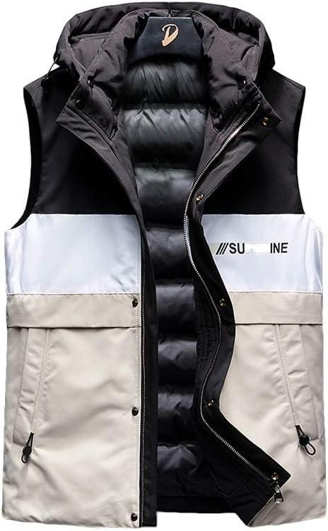 Down Vest Chaleco de Invierno Grueso, Chaleco de algodón para Hombre y Mujer, Cuello Alto de otoño e Invierno, Chaleco de algodón Grueso cálido para Invierno, Blanco, 2XL: Amazon.es: Hogar