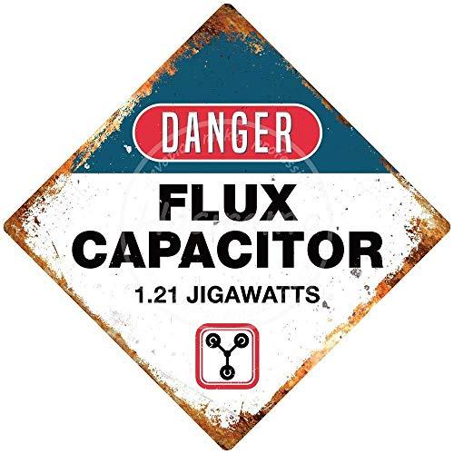 BORJOR Danger Flux Capacitor -Cartel de Pared estaño Placa ...