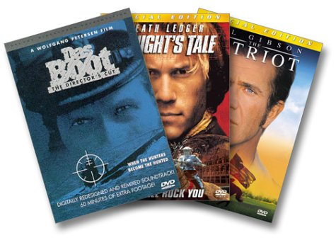 Warriors 3-Pack (The Patriot / A Knight's Tale / Das Boot Director's Cut)