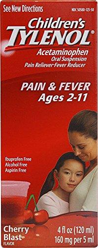 Tylenol Chld Cherry Liq Size 4z Tylenol Children's Cherry Blast Oral Suspension
