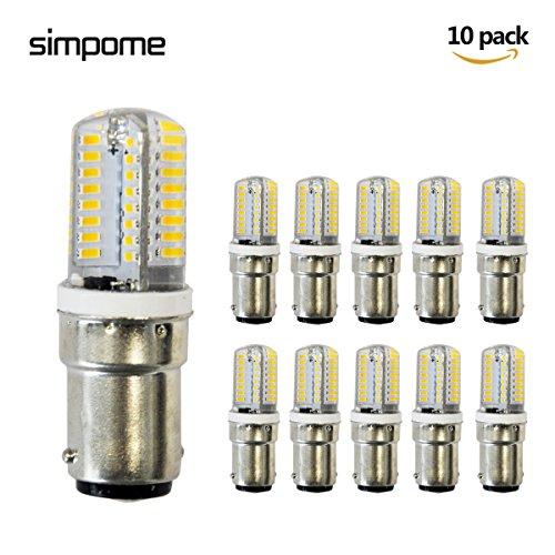 Simpome B15LED Maïs Ampoule 3W, à intensité variable, 200LM, 360Angle de faisceau, Lot de 10 3.00 wattsW, 220.00 voltsV