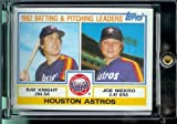 1983 Topps Baseball Card # 441 Ray Knight/ Joe Niekro Houston Astros Shipped In A Protective Screwdown Display Case!