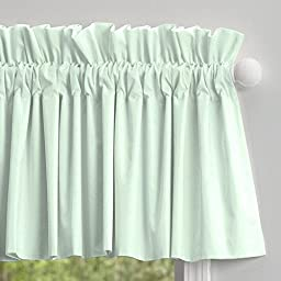 Carousel Designs Solid Icy Mint Window Valance Rod Pocket
