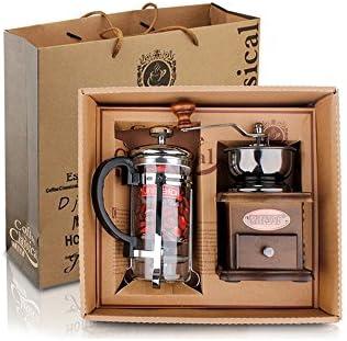 Finoki - Set portátil de cafetera manual, manivela, moledor de ...