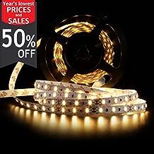 LEDMO Flexible LED Strip Lights,DC12V LED light Strip Non-Waterproof,LED Tape,300 Units SMD 5630 LEDs,Warm White ,16.4Ft/5M(Without Adapter)