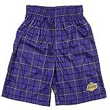 Los Angeles Lakers NBA Big Boys Plaid Shorts - Purple