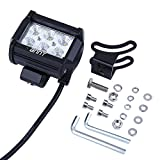 Masione-18w-LED-Work-Light-Bar-1260lm-Waterproof-Headlight-Flood-Driving-Work-Light-Mounting-Bracket-for-SUV-Off-road-Boat-ATV-Marine-Boat-Camping-Jeep-Cabin-Tractor-Truck-Car-UTV