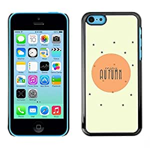FECELL CITY // Duro Aluminio Pegatina PC Caso decorativo Funda Carcasa de Protección para Apple Iphone 5C // Quote Text Yellow Orange Sun Stars