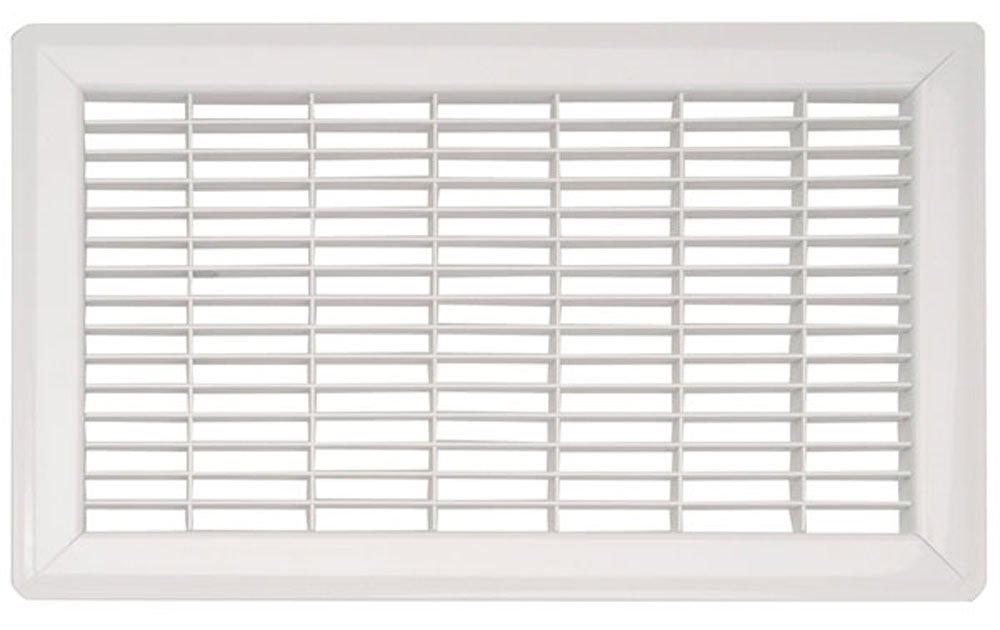 White Heavy Duty Steel Commercial Floor Grill - (15 sizes available) (8 x 14)