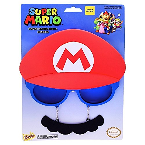 Sunstaches Officially Licensed Nintendo Mario Mustache (Super Mario Costume For Men)