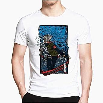 TSHIMEN Camisetas Hombre One Piece Naruto Camiseta Hombres Mujeres japón Anime Camisetas Divertidas Top XXL Blanco: Amazon.es: Ropa y accesorios