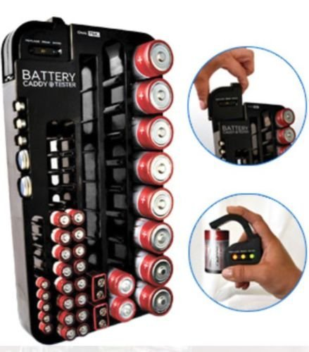 72 Battery Caddy Storage Plastic Holder Rack Organizer Re...