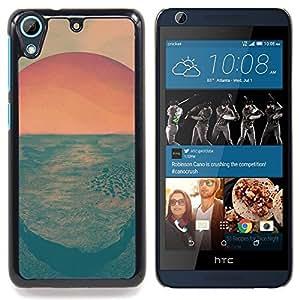 """Salida del sol psicodélica"""" - Metal de aluminio y de plástico duro Caja del teléfono - Negro - HTC Desire 626 626w 626d 626g 626G dual sim"""