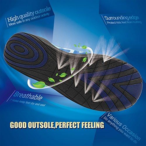 CIOR Fantiny Boys & Girls Water Shoes Lightweight Comfort Sole Easy Walking Athletic Slip on Aqua Sock(Toddler/Little Kid/Big Kid) 2w.blue MRA5W