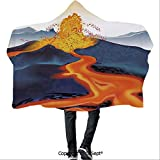 Polyester Hooded Blankets,Graphic Display of