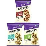 Bean Crisps, Thin & Crispy Popped Bean Crisps Variety Sampler Pack (12 Count)