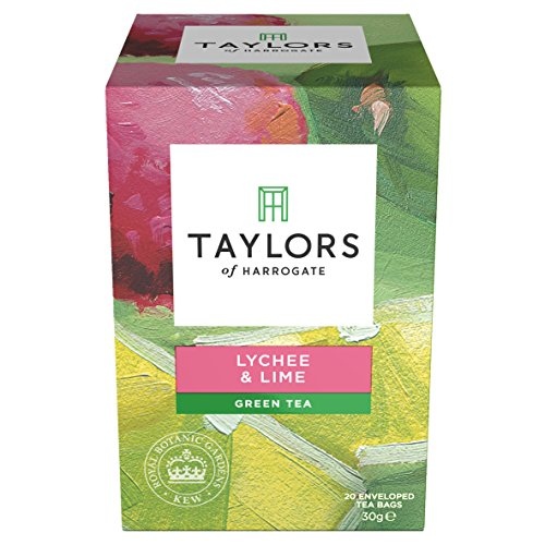 Taylors of Harrogate Lychee & Lime Green Tea, 20 Teabags - Lime Green Tea