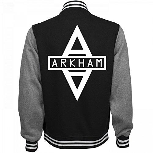 Customized Girl Arkham City Costume Bomber: Unisex Fleece Letterman Varsity Jacket (Customized Fleece Jackets)