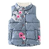 Showtime Little Girls Vests Outerwear Cute Floral Faux Fur Jacket Lightweight Fall Winter Waistcoat