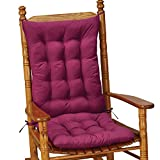 Collections Etc Quilted Rocking Chair Cushion Set, Burgundy