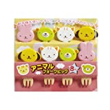CuteZCute Bento Food Pick, 8-Piece, 4 Designs, Animal Fork