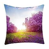Pgojuni Fresh Style Scenery Printing Pillowcase Fashion Pillow Case Polyester Sofa Car Cushion Cover Home Decor Cover Pillow Case1pc (45cm X 45cm) (B)