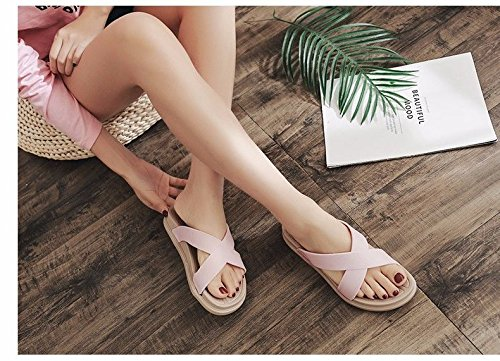 students' slippers drag LIUXINDA Pink summer fashion sandals British women's XZ sandals Fashion outdoor cute w77vAqI