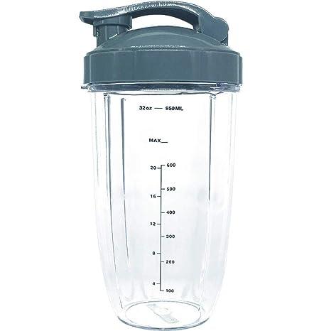 Taza de repuesto 32 oz taza de altura con tapa superior para listo para Nutribullet Nutri