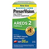 PreserVision AREDS 2 Eye Vitamin & Mineral Supplement withLutein and Zeaxanthin Soft Gels FamilyValue 1Pack (210 SGels)