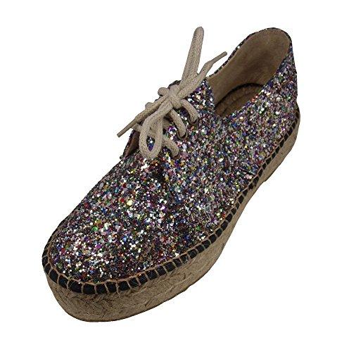 Multi Bailarina Alpargatus Doble Suela Glitter Bwt1ZaqCx
