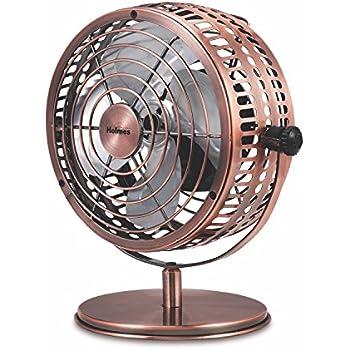 Holmes Heritage Desk Fan, 6-inch, Brushed Copper