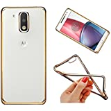 Chevron Gold line transparent case cover for Motorola Moto G4 Play (Moto G Play, 4th Gen)